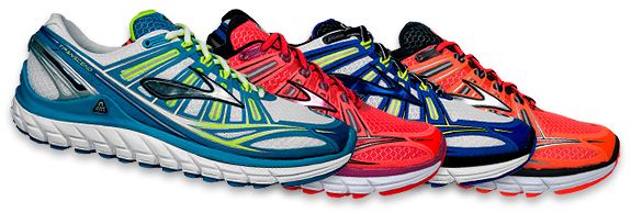 Brooks Transcend Running Shoes Color Line-up