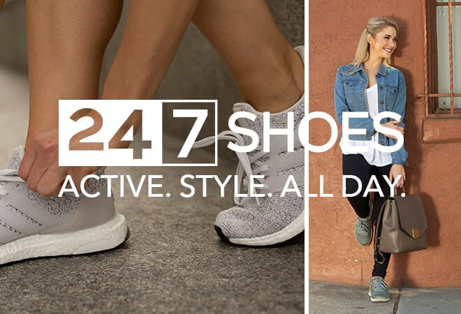 Women's 24.7 Shoes. Active. Style. All Day.