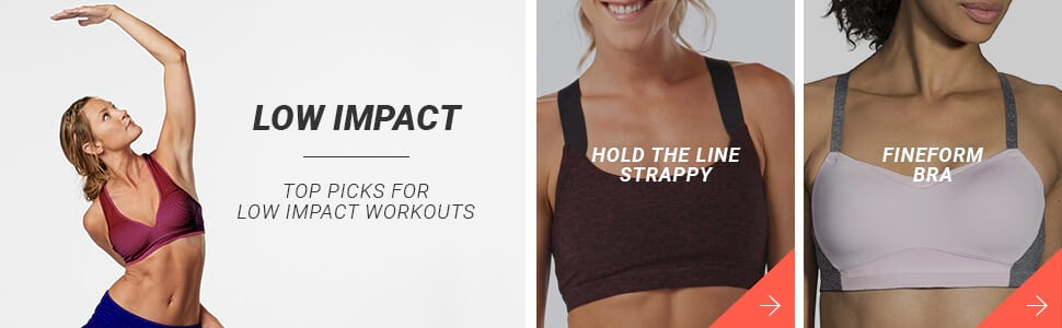 Low Impact Bras - Here are your top picks!