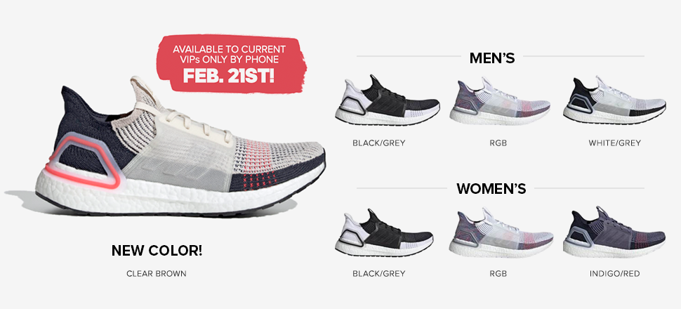 1add2617e Adidas Ultra Boost 19  Available to VIPs only by Phone on Feb. 13th!