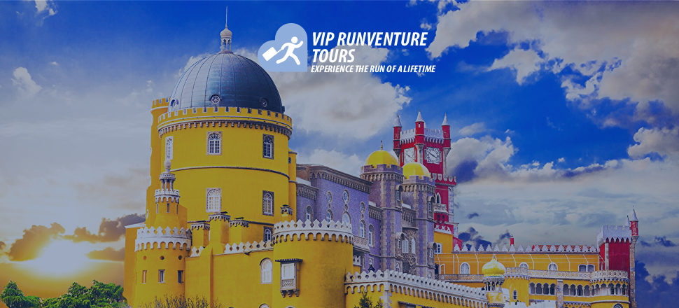 VIP Runventure Tours - Experience the Run of a Lifetime - Picture of Pena Palace in Portugal at Sunset