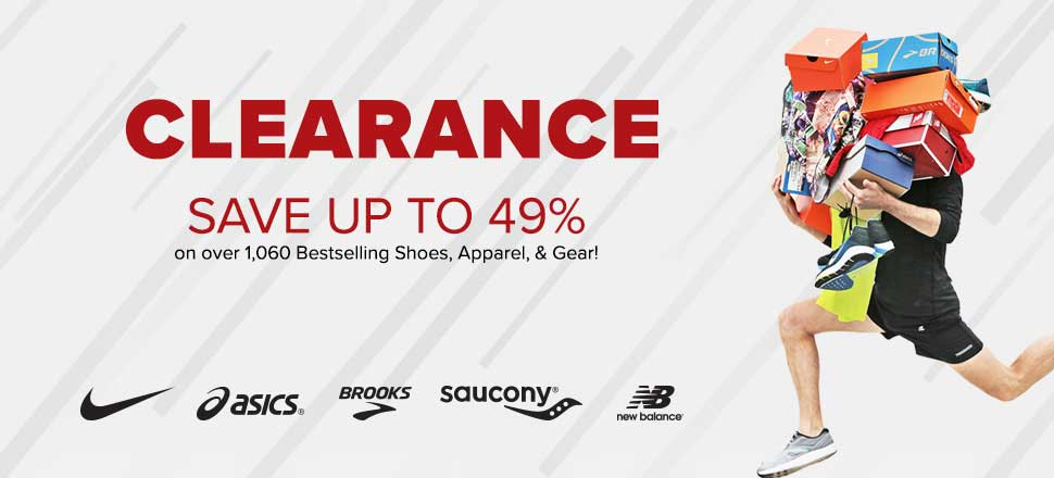 Clearance! Save up to 49% on over 1,060 Bestselling Shoes, Apparel and Gear!